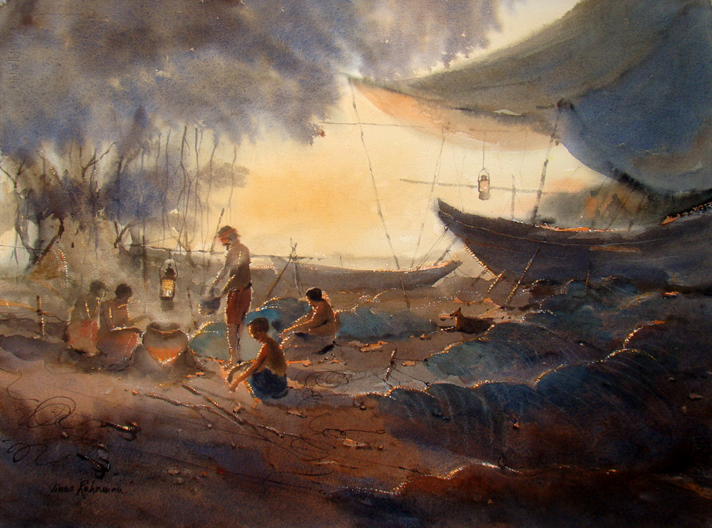 Fishermen And Boats
