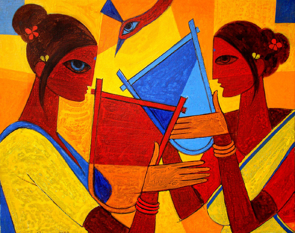 Buy authentic indian contemporary art and modern paintings for Buy art online india